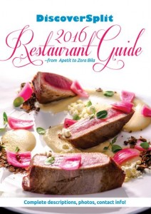 The cover of our new 2016 DiscoverSplit Restaurant Guide